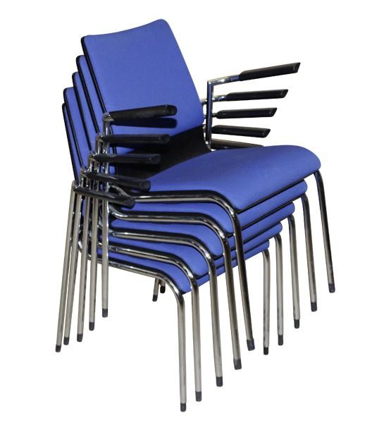 Besucherstuhl, Konferenzstuhl, stapelbar in blau oder schwarz