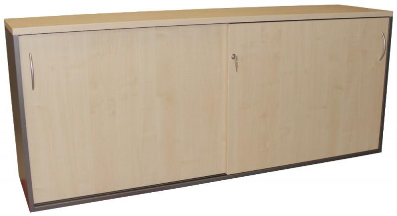 Doppel - Sideboard passend zum SCHÄRF SET, Ahorn / Anthrazit, 2OH, Schiebetür
