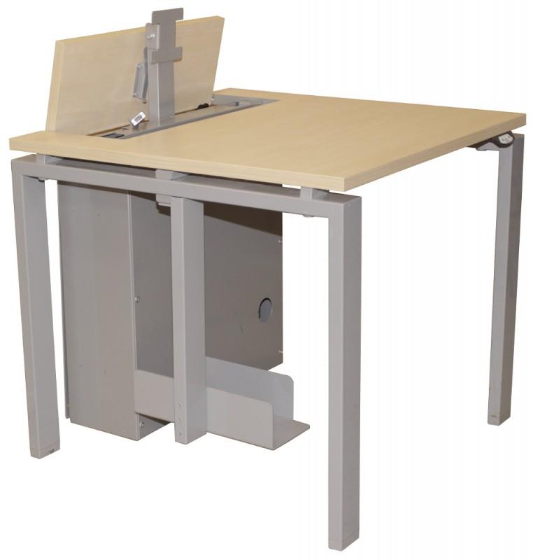 Vielzwecktisch / PC Tisch mit elektrisch ausfahrenden Monitor