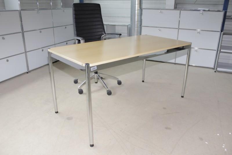 USM Haller Tisch | Buche RAL 7035