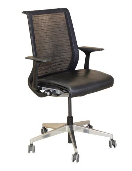 THINK Büro-Drehstuhl - Steelcase, Leder