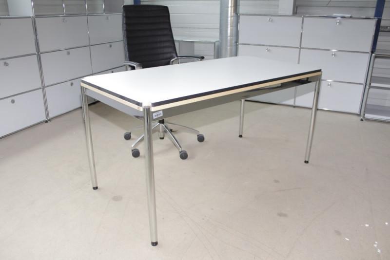 USM Haller Tisch | weiß RAL 7035