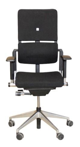 Bürostuhl Steelcase PLEASE -chrom-Kreuz , Stoff, schwarz