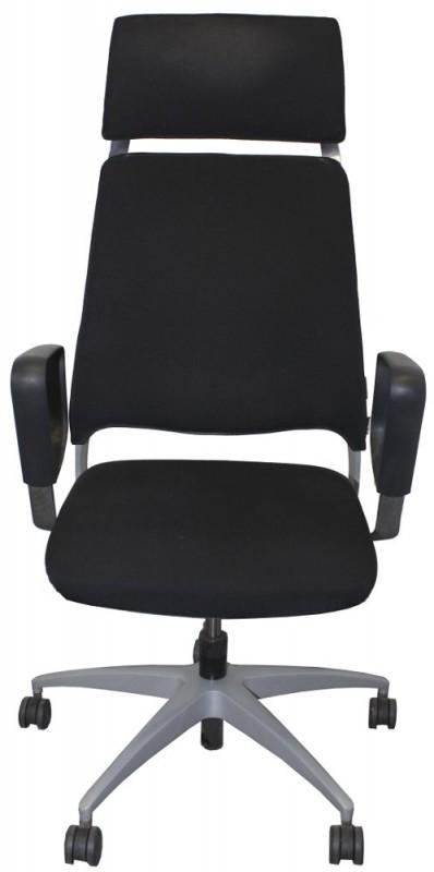 Schreibtischstuhl, Bürodrehstuhl schwarz, SALIDA, Kinnarps + Kopfstützen Variante