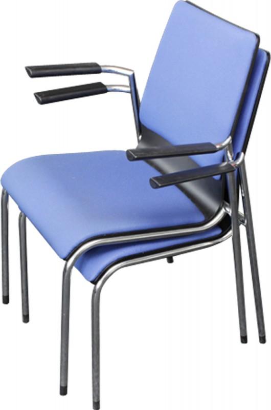 Besucherstuhl blau, preiswert, stapelbar